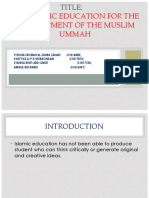 Pragmatic Education for the development of the muslim ummah.pptx