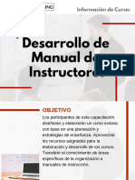 Curso Desarrollo de Manual de Instructores