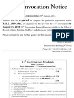11th Convocation Notice