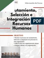 Curso de Reclutamiento, Selección e Integración de Recursos Humanos