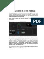 Exportar Un Video en Adobe Premiere