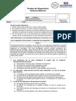 Prueba Diagnóstico Octavo 2019.docx