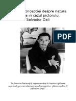 Analiza conceptiei despre natura si viata in cazul pictotului Salvador Dali