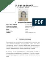 Hoja de Vida Flor Alba Salamanca
