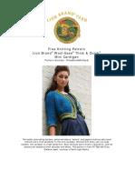 Knit Pattern Bold and Bulky Mini Cardigan FittedKnitsMiniCardi