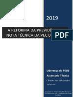 Nota técnica do PSOL sobre a Reforma da Previdência
