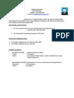 Civil engineer Cv format