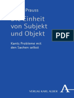 Gerold Prauss - Die Einheit von Subjekt und Objekt _ Kants Probleme mit den Sachen selbst-Verlag Karl Alber (2016) (1).pdf