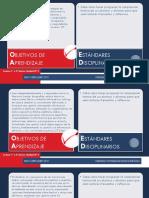 objetivos y estandares de aprendizaje