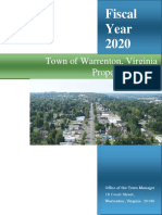 FY2020 Town of Warrenton Proposed Budget