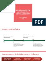 La Pedagogía en La Reforma o Contrareforma