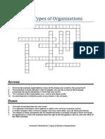 Economics Worksheets business organisations cross puzzel.docx