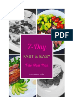 7 Day Sample Menu