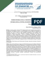 Brito, V.; Pinheiro, M. - Poder informacional e desinformação