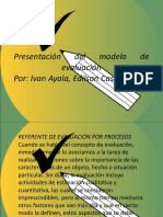 Presentación Del Modelo de Evaluacion