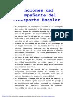 Funciones Del Acompaniante Del Transporte Escolar