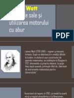 James Watt invenţiile sale și utilizarea motorului       cu.pptx