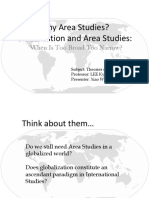 Globalization and Area Studies - When is Too Broad Too Narrow