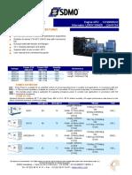 650kw Diesel Generator Datasheet x650uc (English)