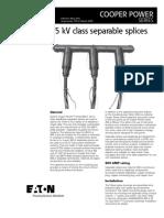 600a 35kv Class Separable Splices