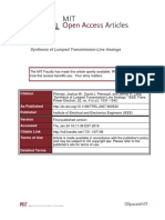 Synthesis of Lumped Transmission-Line Analogs