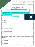 Avaliação de Português Respostas