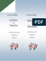 izchel olivares wedding invite