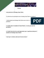 Guía Gobierno de Domingo Santa Maria