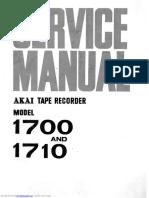 Akai 1700 Sevice Manual