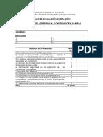 Pauta de Evaluación Disertación 6to