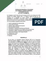 Acta XXIX Asamblea CDS 2019