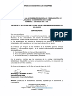 Certificado de Antecedentes Completo