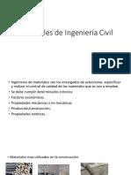 Materiales de Ingeniería Civil