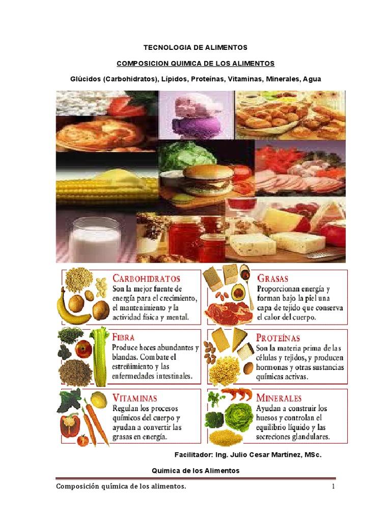 alimentos con proteinas carbohidratos lipidos vitaminas y minerales