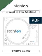 Stanton STR8.150  Digital Turntable - Owner's Manual