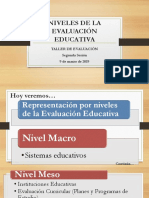 Niveles de La Evaluación Educativa
