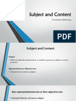 Subject and Content FINAL