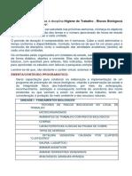 HIGIENE DO TRABALHO – RISCOS BIOLÓGICOS NO AMBIENTE DE TRABALHO.docx