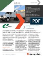 MercuryGate Case Study Evans Transportation
