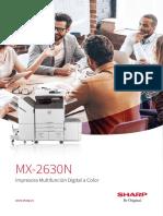 Catálogo Sharp MX-2630N