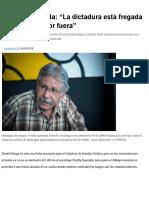 """Freddy Quezada_ """"La Dictadura Está Fregada Por Dentro y Por Fuera"""""""