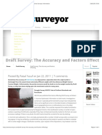 Draft Survey_ The Accuracy and Factors Effecting  Marine Surveyor Information