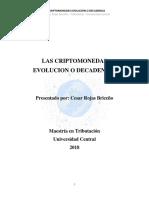 Las Criptomonedas Evolucion o Decadencia