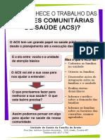 Folder Agentes comunitários de Saúde - ACS