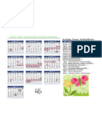Huakailani School Year Calendar 2010-2011