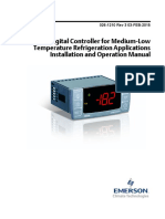 Xr75cx Digital Controller for Medium Low Temperature Refrigeration Applications Installation Operation Manual en 2125596