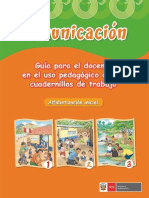 Comunicación Guía Para El Docente en El Uso Pedagógico de Los Cuadernillos de Trabajo