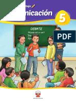 Comunicación 5 Cuaderno de Trabajo Para Quinto Grado de Educación Primaria 2019
