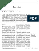 Bench marking Innovation