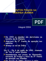 História Geral PPT - Segunda Guerra Mundial - Final